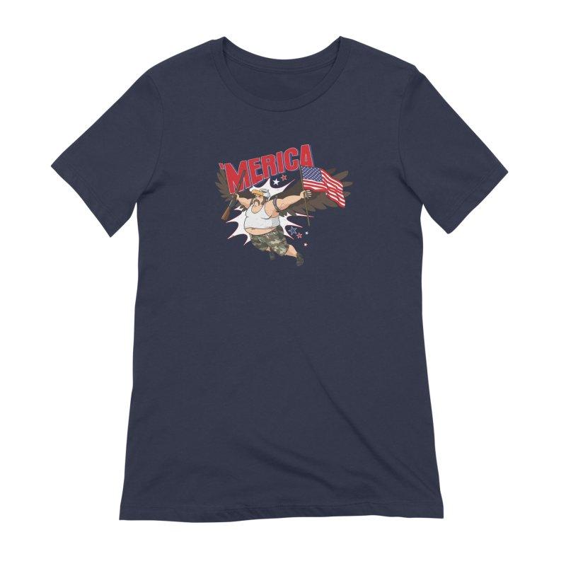 'Merica Women's Extra Soft T-Shirt by Jerkass