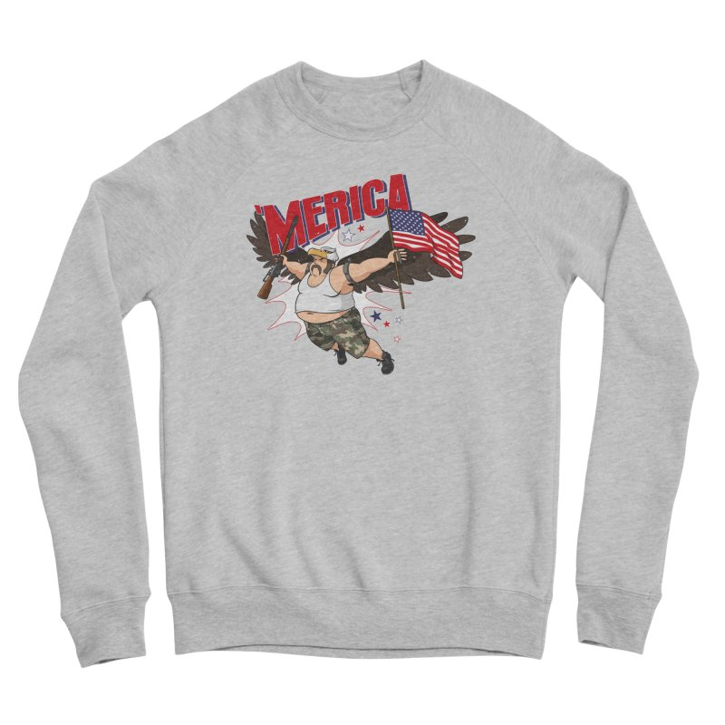 'Merica Men's Sponge Fleece Sweatshirt by Jerkass