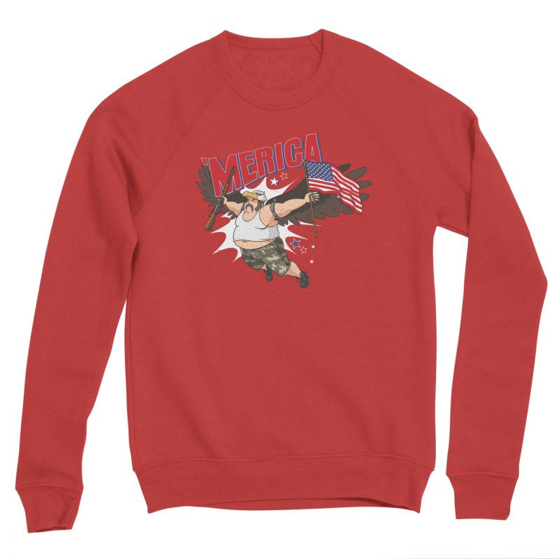 'Merica Women's Sponge Fleece Sweatshirt by Jerkass