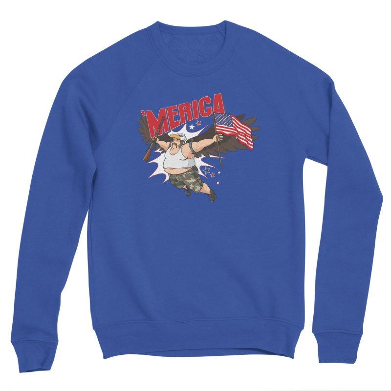 'Merica Men's Sponge Fleece Sweatshirt by Jerkass