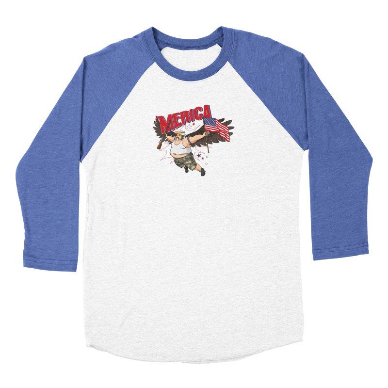 'Merica Women's Baseball Triblend Longsleeve T-Shirt by Jerkass