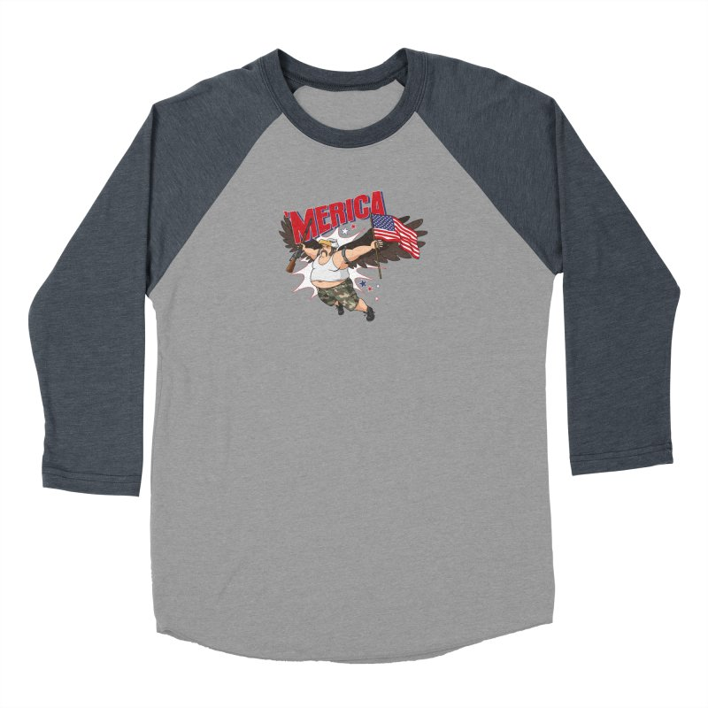 'Merica Men's Baseball Triblend Longsleeve T-Shirt by Jerkass