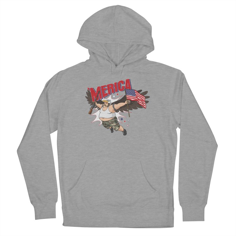 'Merica Women's French Terry Pullover Hoody by Jerkass