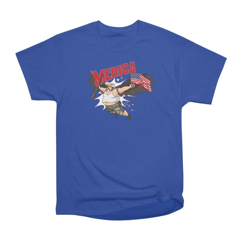 'Merica Women's Heavyweight Unisex T-Shirt by Jerkass