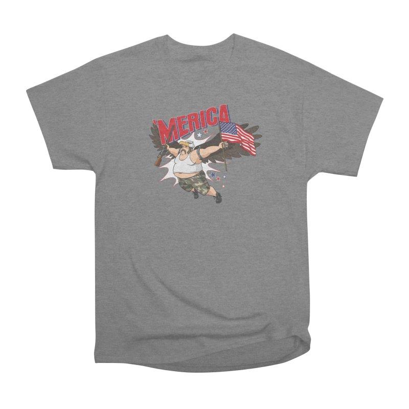 'Merica Men's Heavyweight T-Shirt by Jerkass