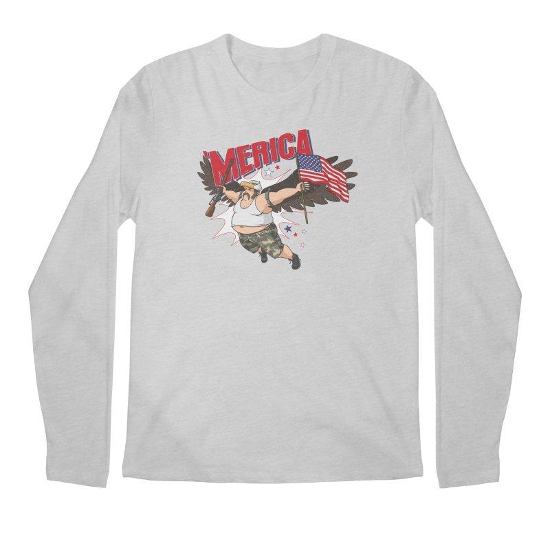 'Merica Men's Regular Longsleeve T-Shirt by Jerkass
