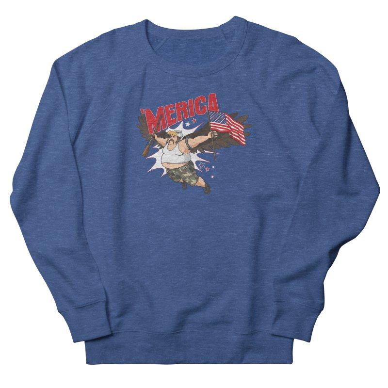 'Merica Women's French Terry Sweatshirt by Jerkass