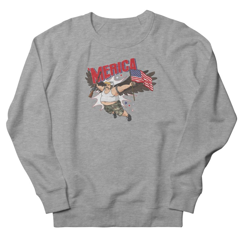 'Merica Women's French Terry Sweatshirt by Jerkass