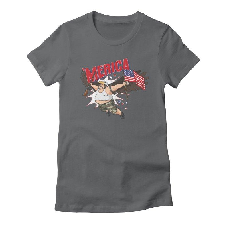 'Merica Women's Fitted T-Shirt by Jerkass