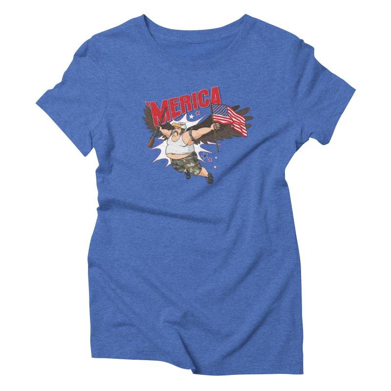 'Merica Women's Triblend T-Shirt by Jerkass