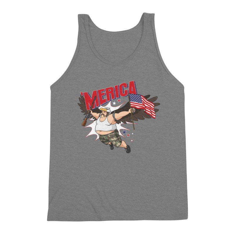 'Merica Men's Triblend Tank by Jerkass