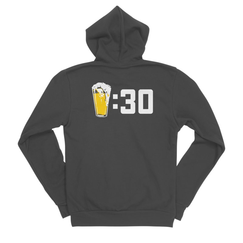 Beer : 30 Men's Sponge Fleece Zip-Up Hoody by Jerkass