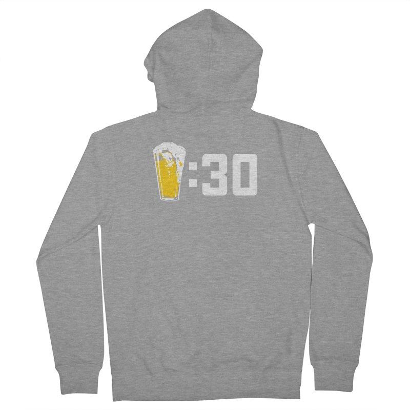 Beer : 30 Men's French Terry Zip-Up Hoody by Jerkass