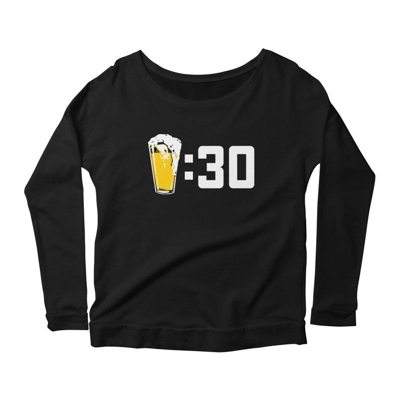 Beer : 30 Women's Scoop Neck Longsleeve T-Shirt by Jerkass