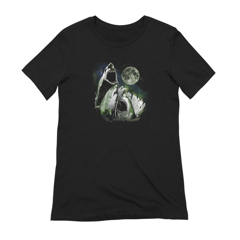 3 Shark Moon Women's Extra Soft T-Shirt by Jerkass