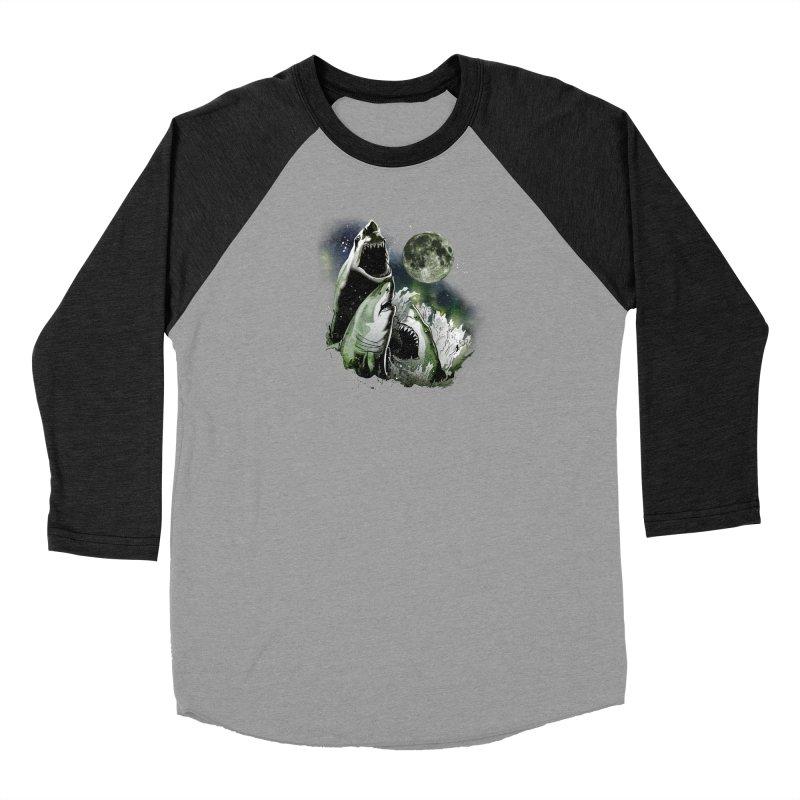3 Shark Moon Women's Baseball Triblend Longsleeve T-Shirt by Jerkass