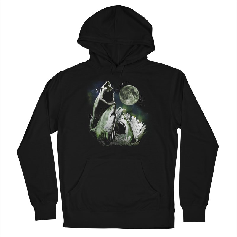3 Shark Moon Women's French Terry Pullover Hoody by Jerkass