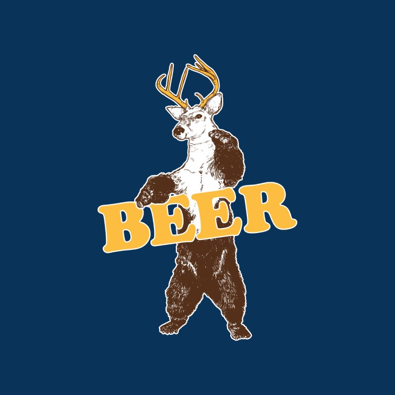 Bear + Deer = Beer Men's T-Shirt by Jerkass
