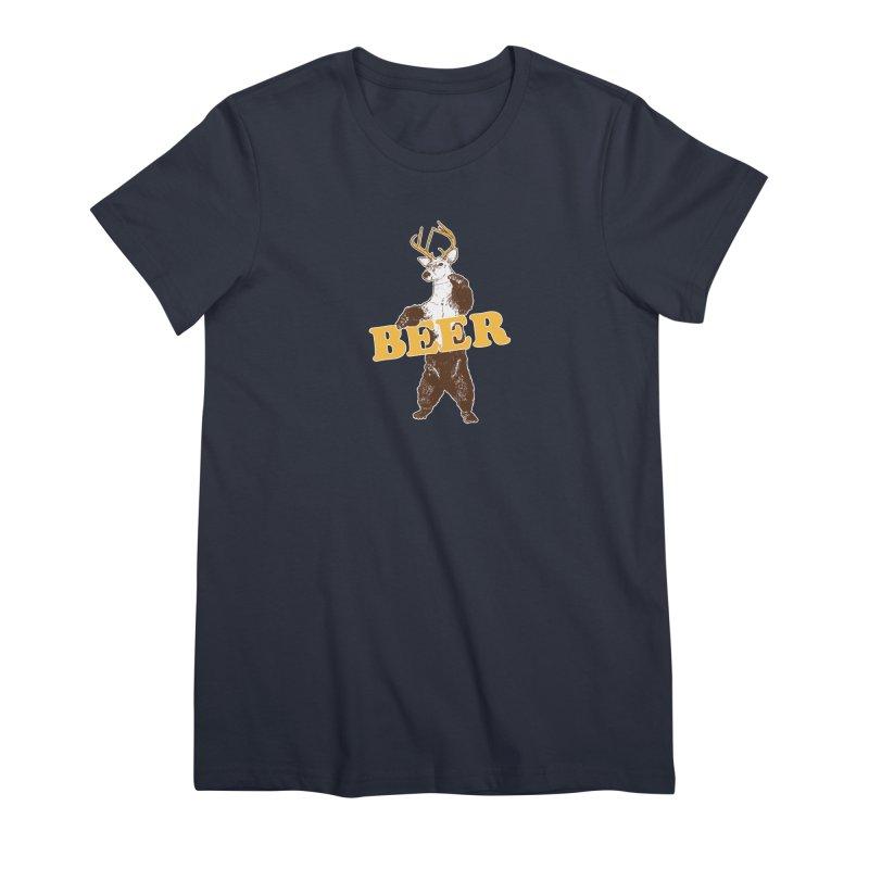 Bear + Deer = Beer Women's Premium T-Shirt by Jerkass