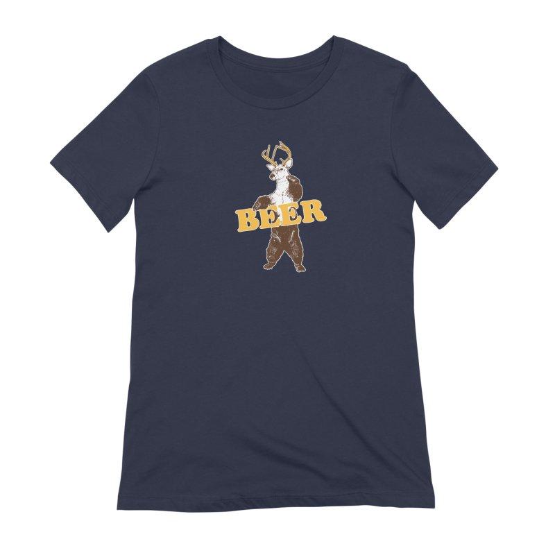 Bear + Deer = Beer Women's Extra Soft T-Shirt by Jerkass