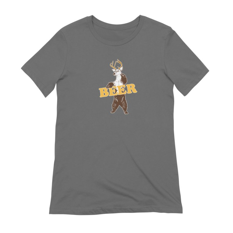 Bear + Deer = Beer Women's Extra Soft T-Shirt by Jerkass