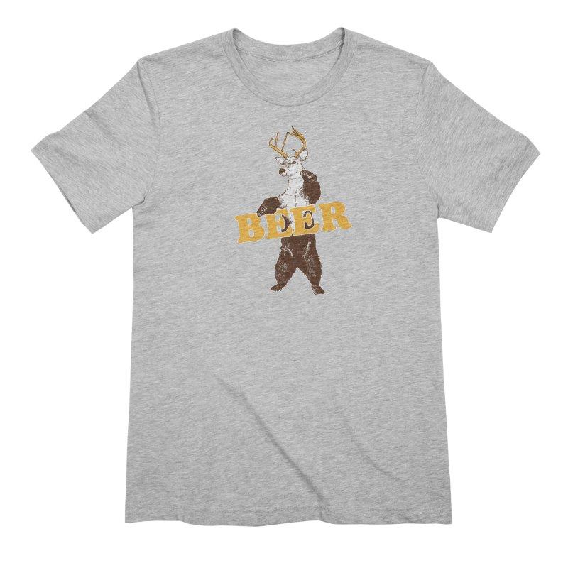 Bear + Deer = Beer Men's Extra Soft T-Shirt by Jerkass