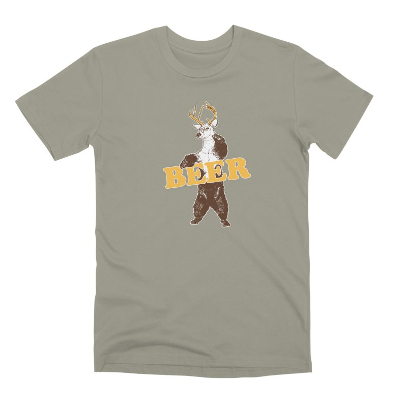 Bear + Deer = Beer Men's Premium T-Shirt by Jerkass