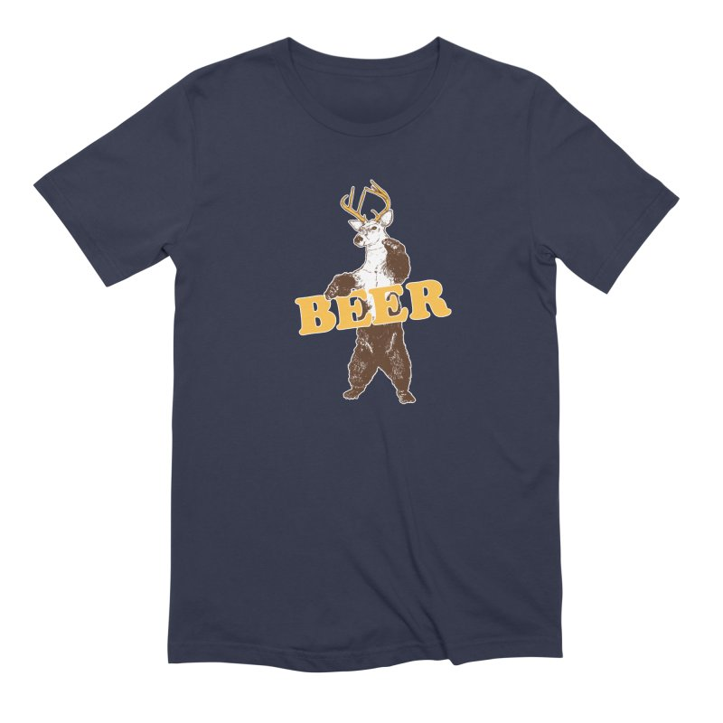 Bear + Deer = Beer Men's Extra Soft T-Shirt by Jerkass