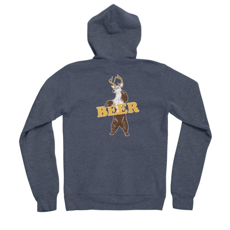 Bear + Deer = Beer Men's Sponge Fleece Zip-Up Hoody by Jerkass