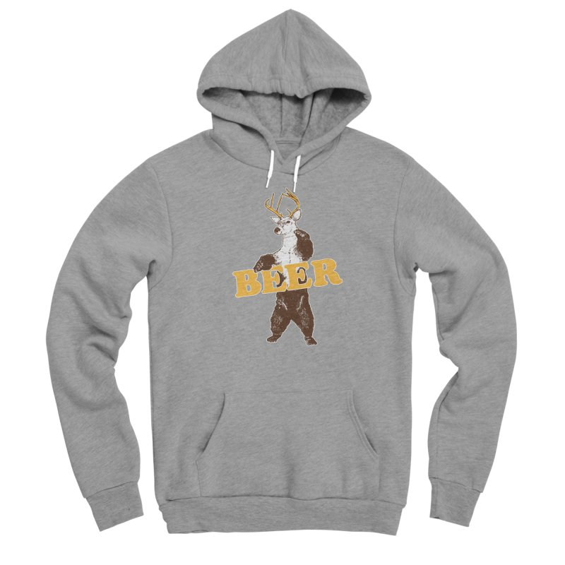 Bear + Deer = Beer Men's Sponge Fleece Pullover Hoody by Jerkass