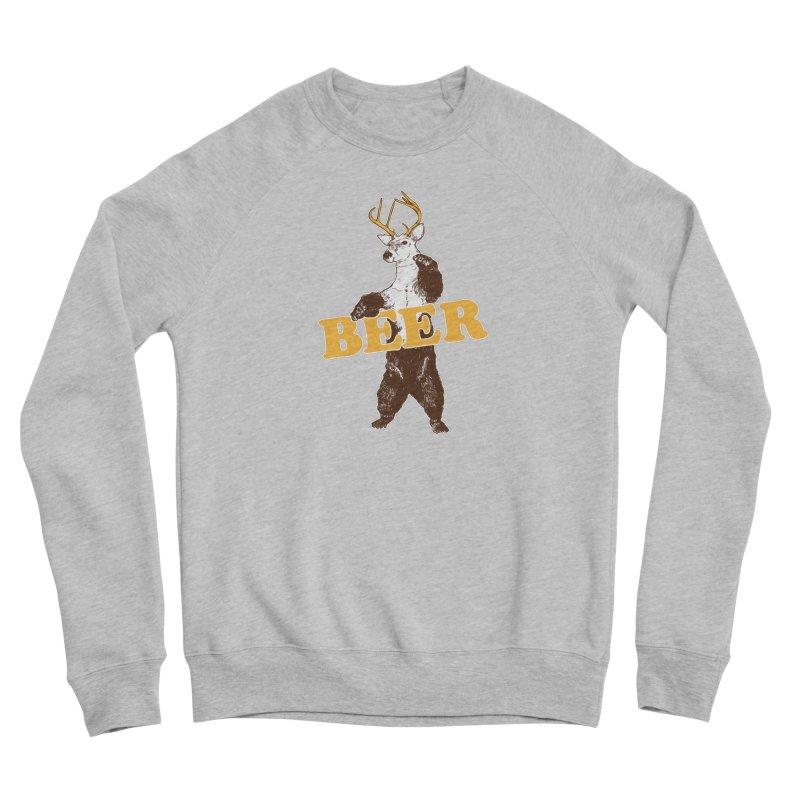 Bear + Deer = Beer Men's Sponge Fleece Sweatshirt by Jerkass