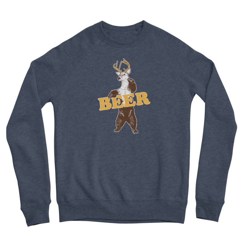 Bear + Deer = Beer Women's Sponge Fleece Sweatshirt by Jerkass