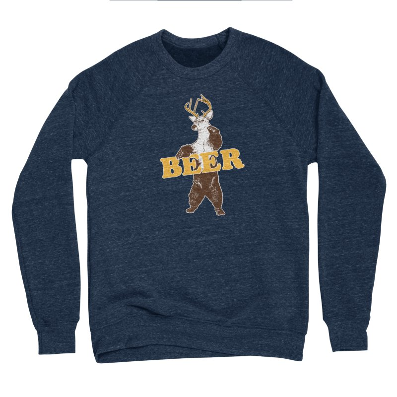 Bear + Deer = Beer Men's Sponge Fleece Sweatshirt by Jerkass