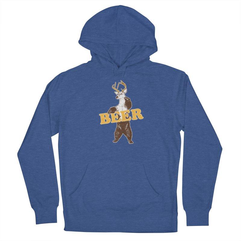 Bear + Deer = Beer Men's French Terry Pullover Hoody by Jerkass