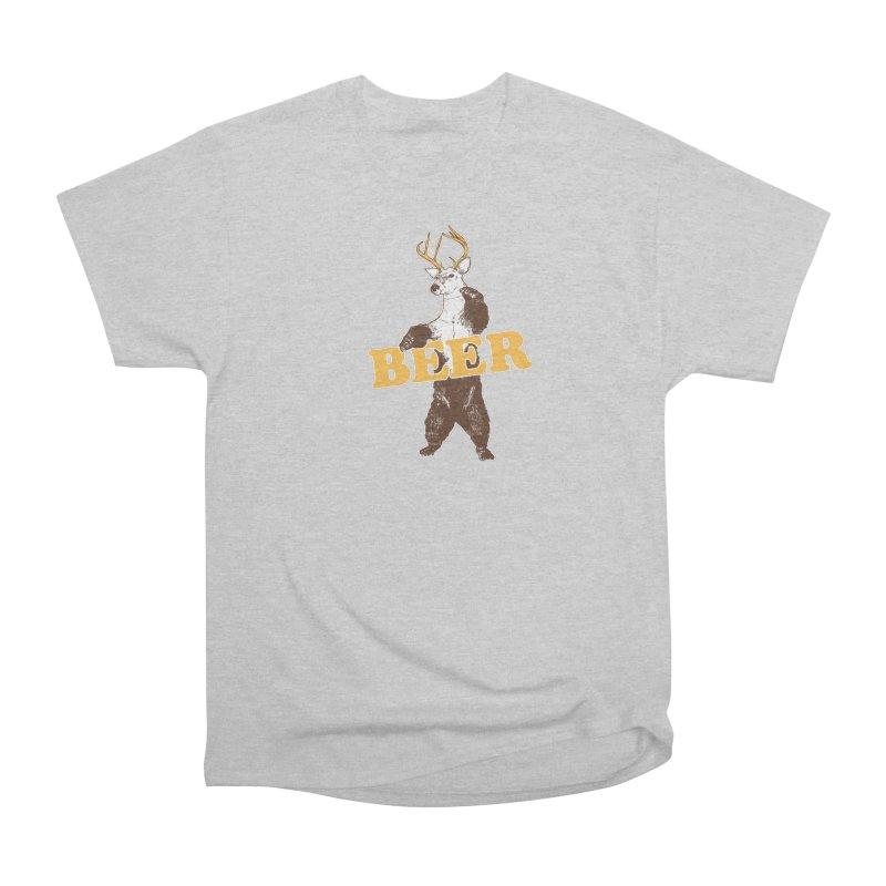 Bear + Deer = Beer Women's Heavyweight Unisex T-Shirt by Jerkass