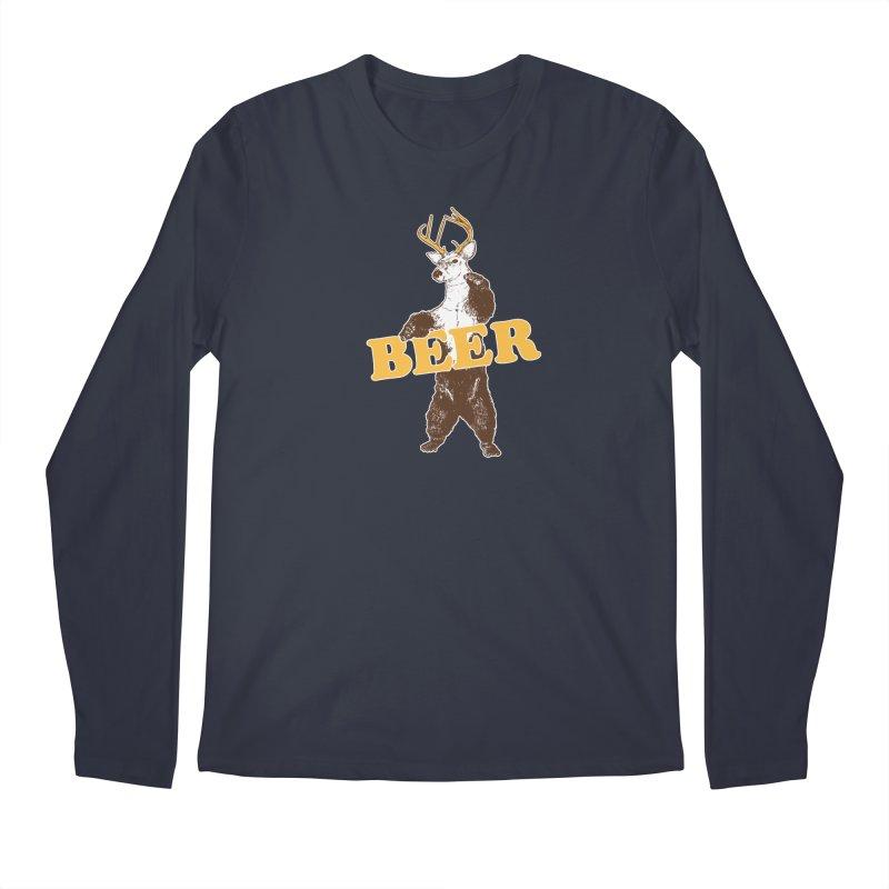 Bear + Deer = Beer Men's Regular Longsleeve T-Shirt by Jerkass