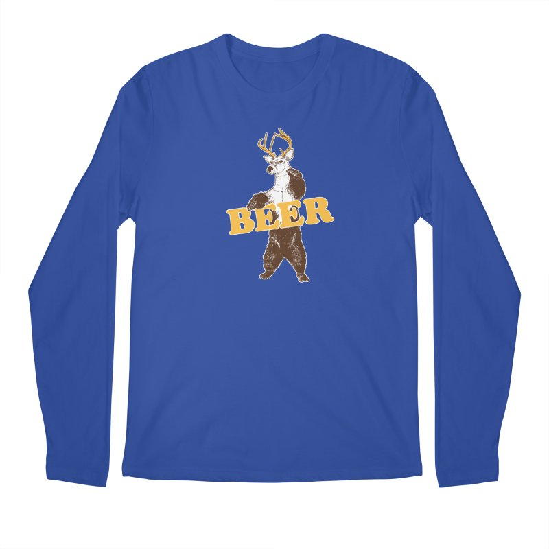 Bear + Deer = Beer Men's Regular Longsleeve T-Shirt by Jerkass