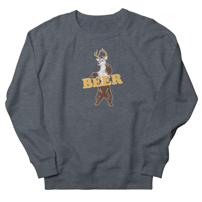 Bear + Deer = Beer Men's French Terry Sweatshirt by Jerkass