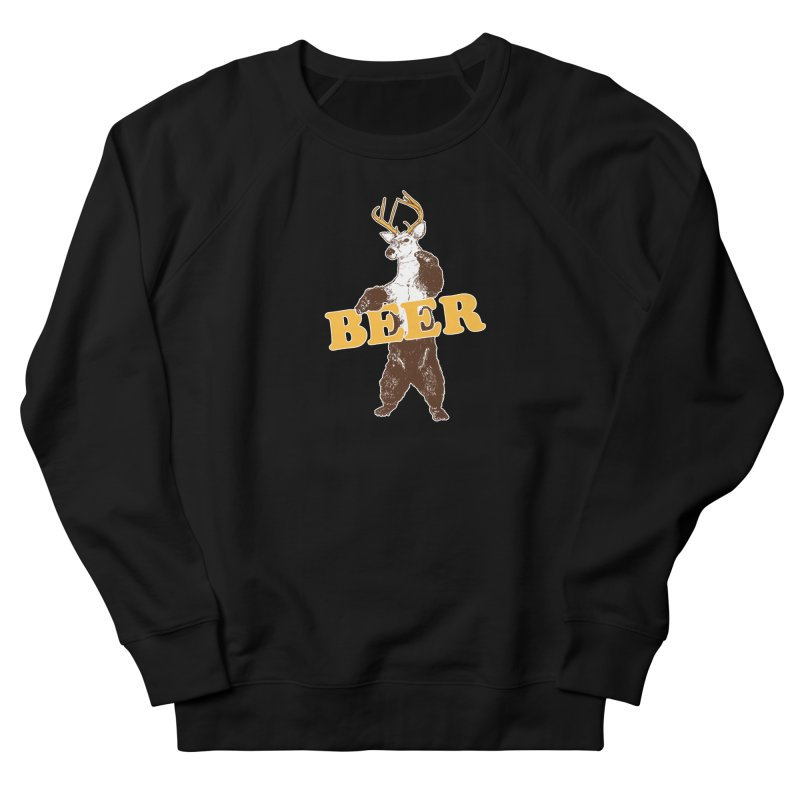 Bear + Deer = Beer Men's French Terry Sweatshirt by Jerkass