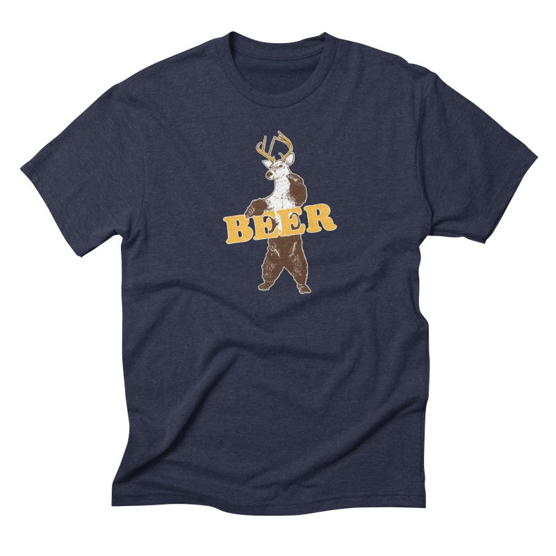 Bear + Deer = Beer Men's Triblend T-Shirt by Jerkass