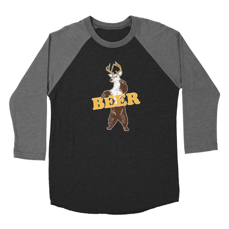Bear + Deer = Beer Men's Baseball Triblend Longsleeve T-Shirt by Jerkass