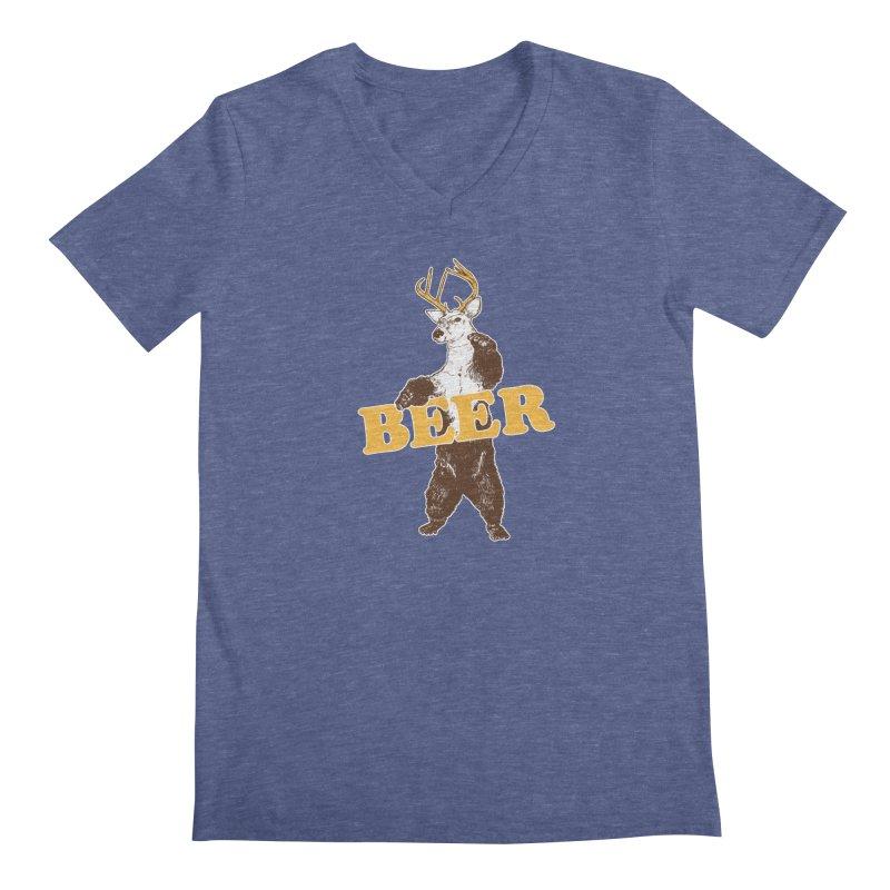 Bear + Deer = Beer Men's Regular V-Neck by Jerkass