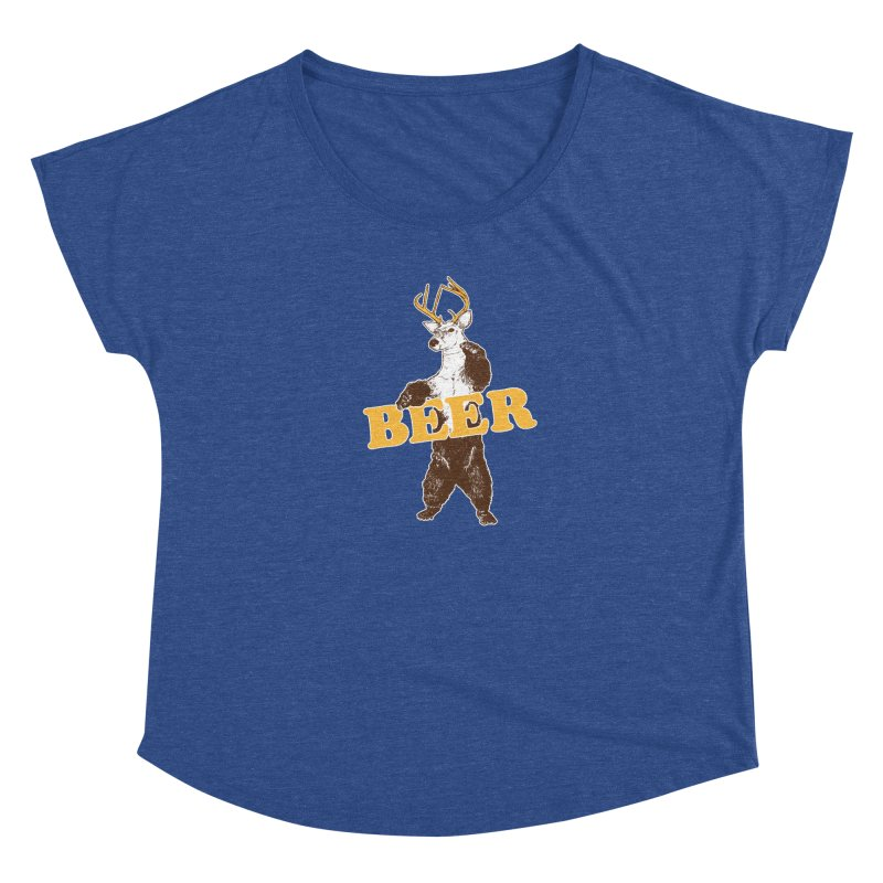 Bear + Deer = Beer Women's Dolman Scoop Neck by Jerkass