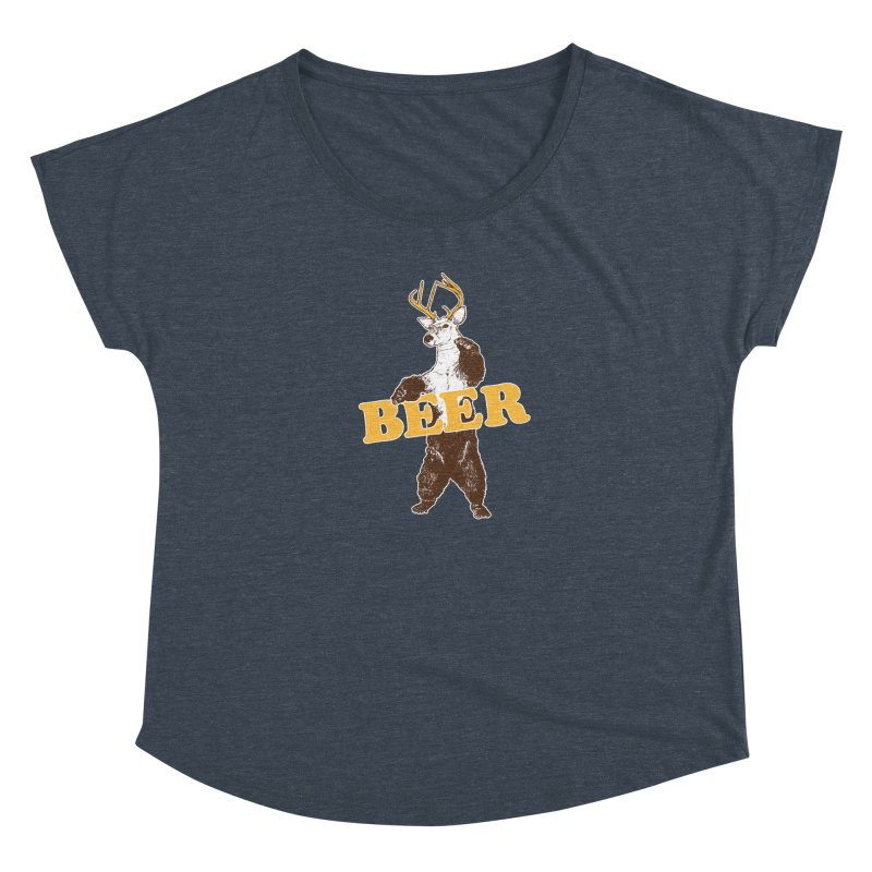 Bear + Deer = Beer Women's Dolman Scoop Neck by Jerkass