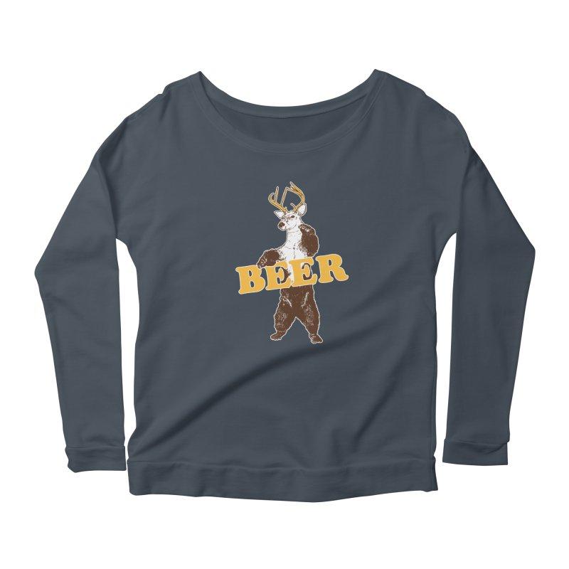 Bear + Deer = Beer Women's Scoop Neck Longsleeve T-Shirt by Jerkass