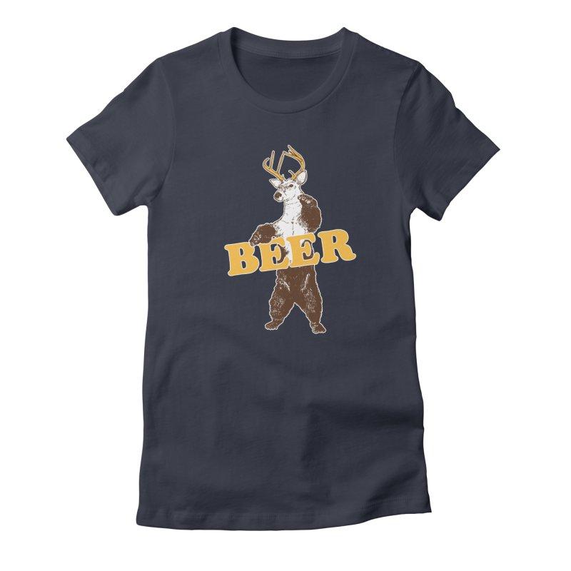 Bear + Deer = Beer Women's Fitted T-Shirt by Jerkass