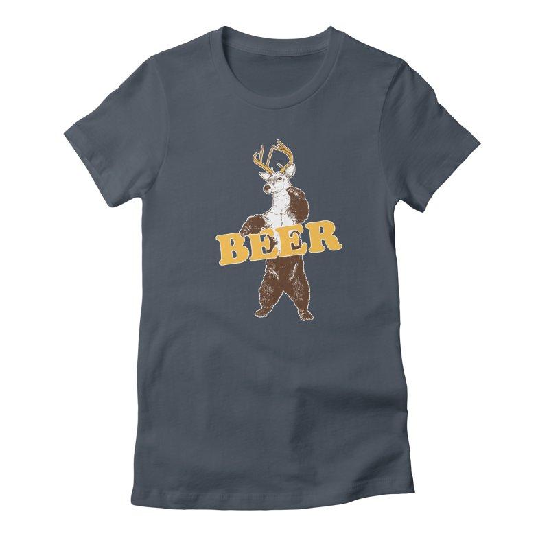 Bear + Deer = Beer Women's T-Shirt by Jerkass
