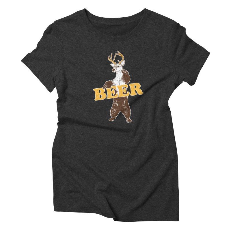 Bear + Deer = Beer Women's Triblend T-Shirt by Jerkass