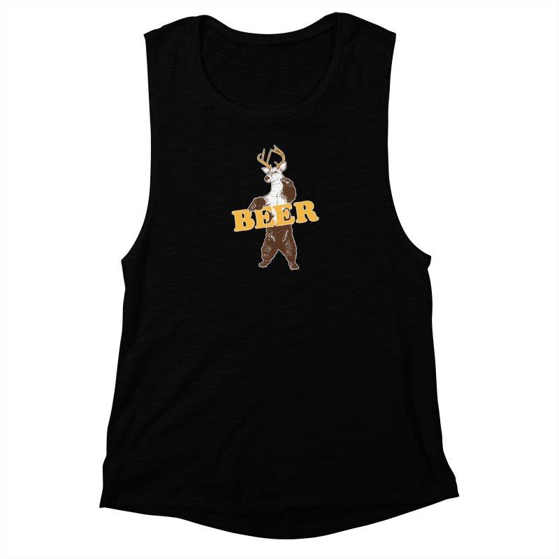 Bear + Deer = Beer Women's Muscle Tank by Jerkass