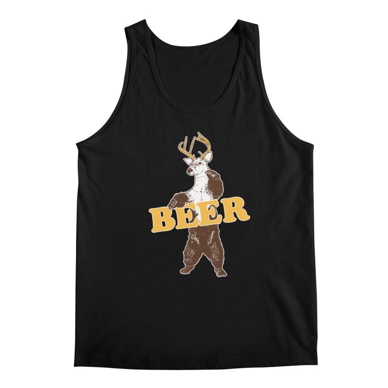 Bear + Deer = Beer Men's Regular Tank by Jerkass